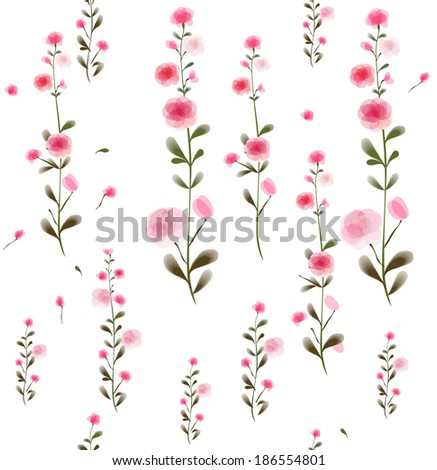 floral pattern. Vector - stock vector