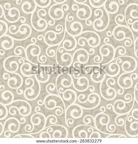 Floral pattern. Wallpaper baroque, damask. Seamless vector background - stock vector