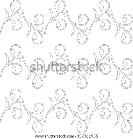 Floral pattern, wallpaper baroque, seamless vector background white