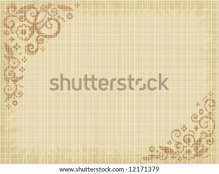 Floral Print Canvas Background Natural Colors Fabric Texture Visible For High Res JPEG