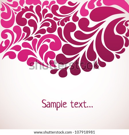 Floral retro abstract background - stock vector