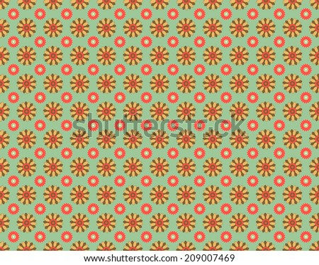 Floral seamless 1 - stock vector