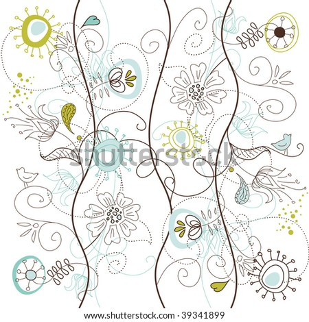 Floral Seamless Background - stock vector