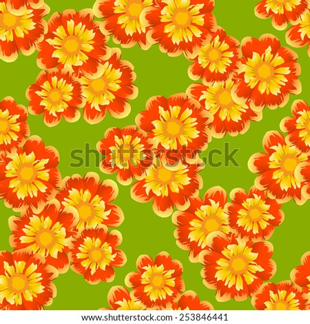 Floral seamless background, fashion Beautiful vector illustration texture. - stock vector