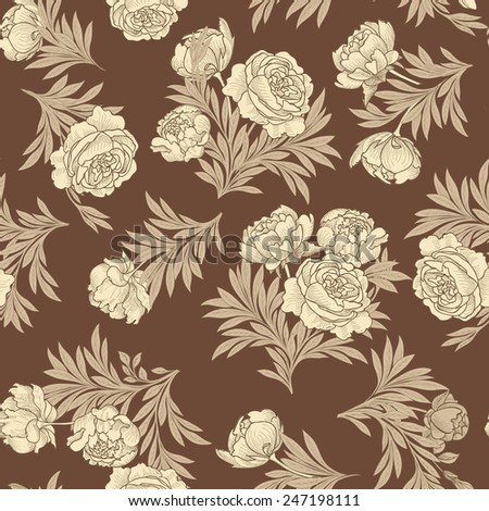 Floral seamless background. Flower pattern. - stock vector