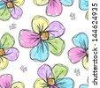Floral seamless background for your design - stock