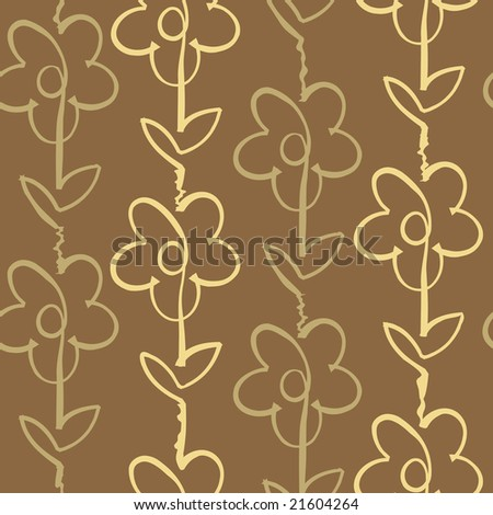 Floral seamless background. Vector illustration. - stock vector