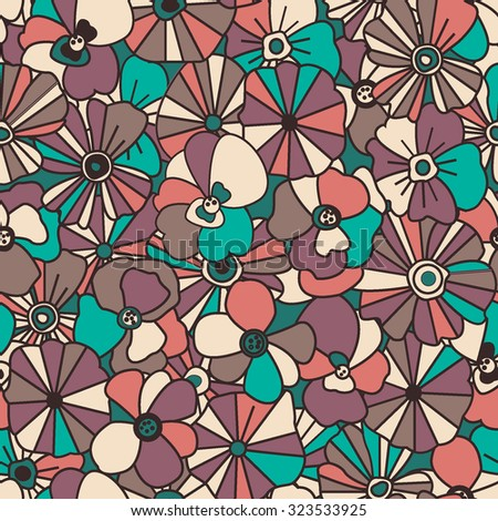 Floral seamless pattern. Abstract background.