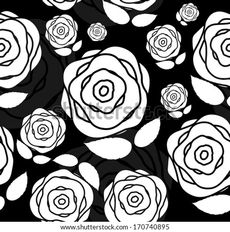 Floral Seamless Pattern Background for Wedding and Birthday. Vector Illustration - stock vector