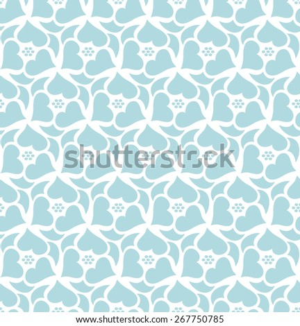 Floral seamless pattern background. Retro style. Wild roses stylized illustration - stock vector