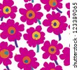 floral seamless pattern background, with splashes - stock vector