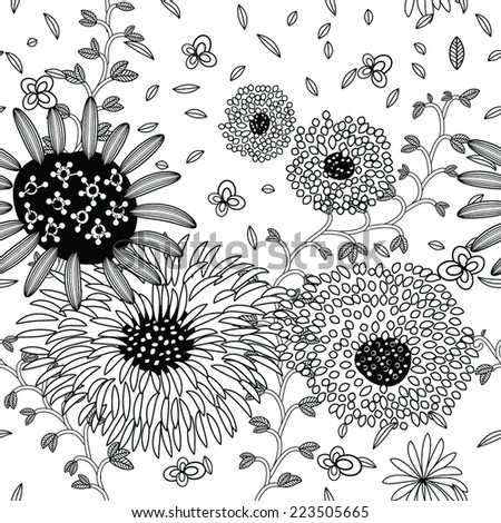 Floral seamless pattern. EPS 8 Vector Background - stock vector