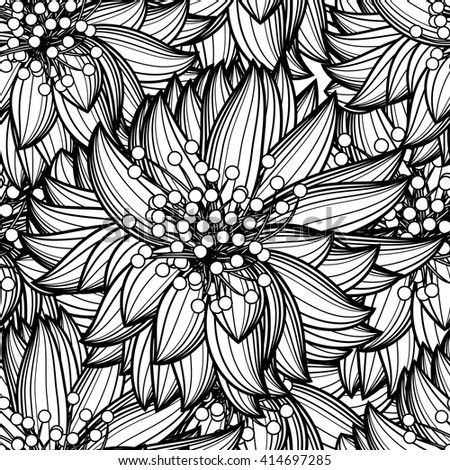 Floral seamless pattern. EPS 10 Vector Background - stock vector