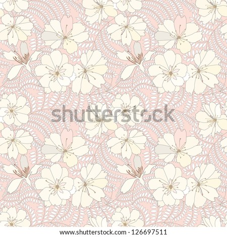 floral seamless pattern. flower background. - stock vector
