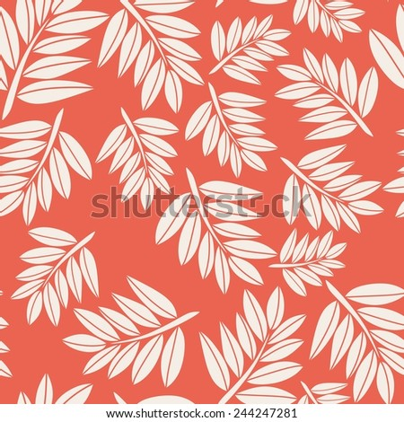 Floral seamless pattern in vintage colours - stock vector