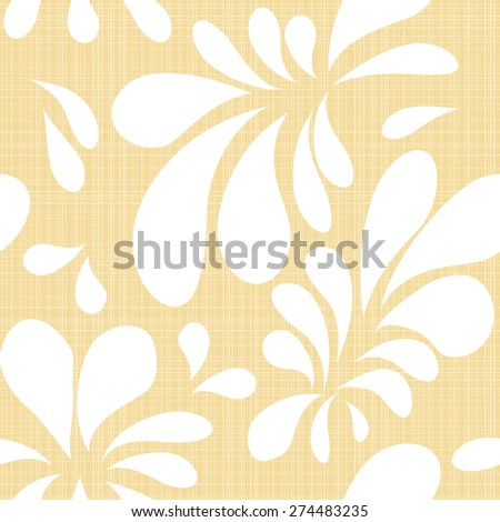 floral seamless pattern on a natural beige background - stock vector