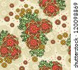 Floral seamless pattern. Retro vector background. - stock vector