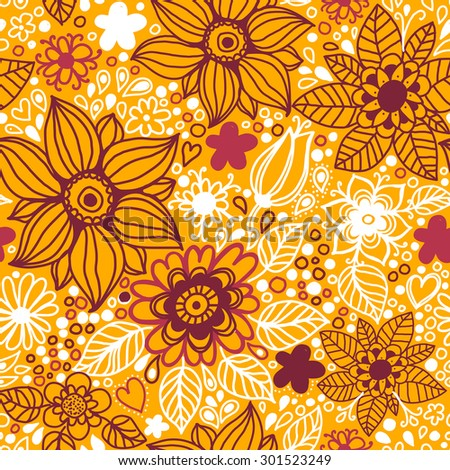 Floral seamless pattern.Seamless texture with flowers. - stock vector