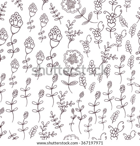 Floral seamless pattern, spring,summer backdrop. Hand drawn surface pattern design with flowers in garden. Seamless texture can be used for wallpapers, pattern fills, surface textures.