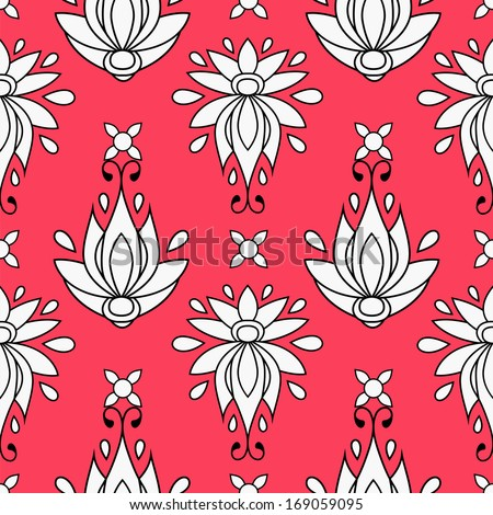 floral seamless pattern. texture can be used for all type textures, wallpaper, web page background. eps10 format vector illustration - stock vector