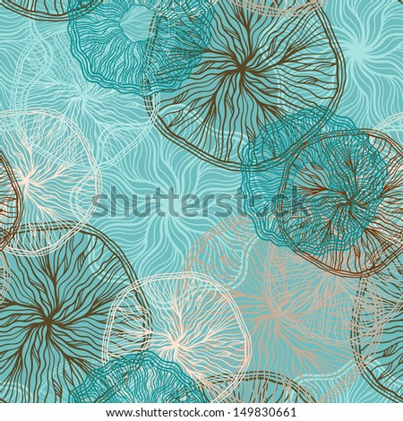 Floral seamless pattern - vector - stock vector