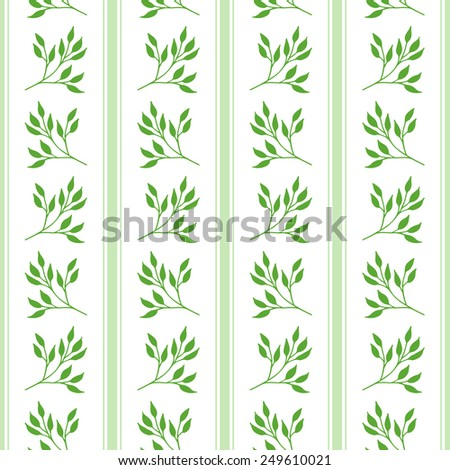 Floral seamless pattern with hand drawn branches - stock vector