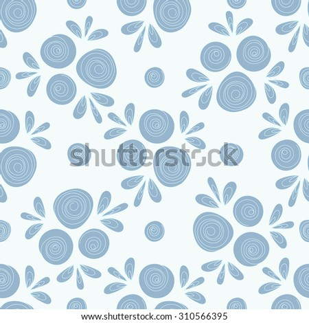 Floral seamless pattern with hand drawn roses. Beautiful vector background for your design. - stock vector