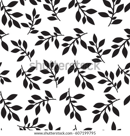Stock Vector Simple Doodle Tree With Leaves Logo Element on herb border