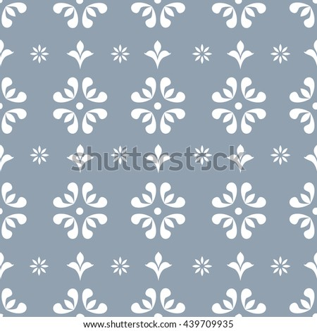Floral seamless repeating vintage background for textile design. Wallpaper, fabric, textures are individual objects, baroque pattern, stock vector - stock vector