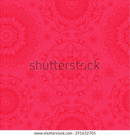 floral seamless texture, endless pattern with flowers looks like retro snowflakes or snowfall. Seamless pattern can be used for wallpaper, pattern fills, web page background, surface textures.