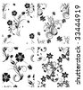 Floral seamless vector backgrounds set - stock vector