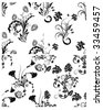 Floral seamless vector backgrounds set.  For easy making seamless pattern just drag all group into swatches bar, and use it for filling any contours. - stock vector