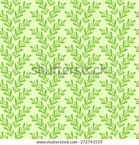 Floral seamless vector pattern with laurel branches - stock vector