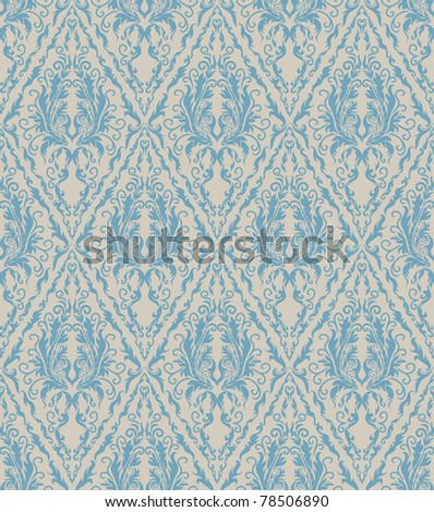 Floral seamless vector royal beauty vintage pattern - stock vector