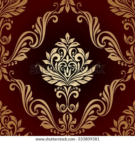 Floral seamless vintage pattern background luxury style - stock vector
