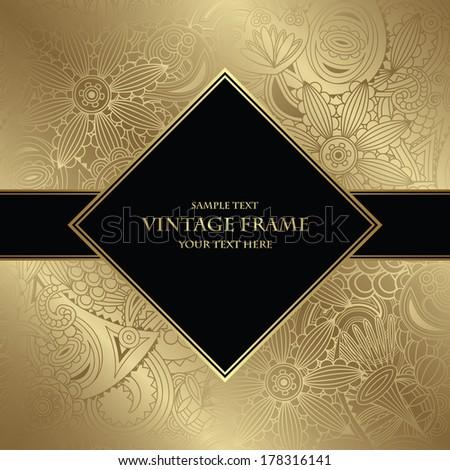 Floral seamless wallpaper. Elegant invitation    - stock vector