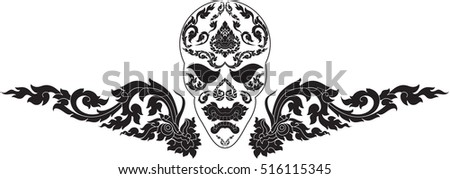 japanese samurai mask helmet woodcut style stock vector 472453690 shutterstock. Black Bedroom Furniture Sets. Home Design Ideas