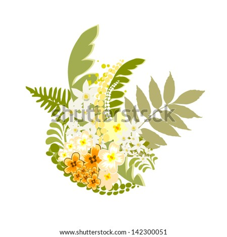 floral summer abstraction - stock vector