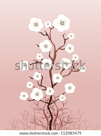 Floral Tree - stock vector