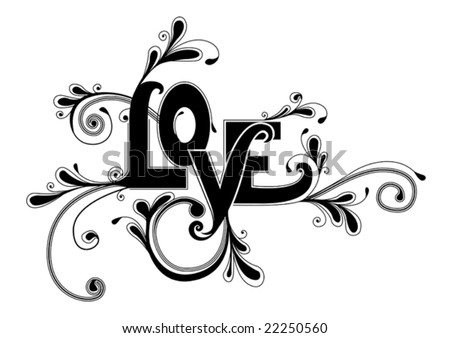 Floral type design - stock vector