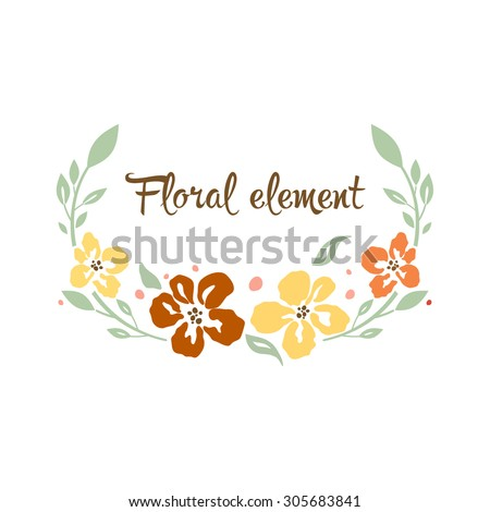 Floral vector element - stock vector
