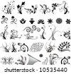 векторный узоры, векторная флора, орнамент.