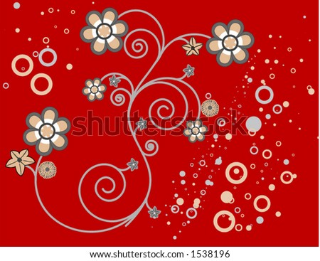 Floral Vector for your designs - stock vector
