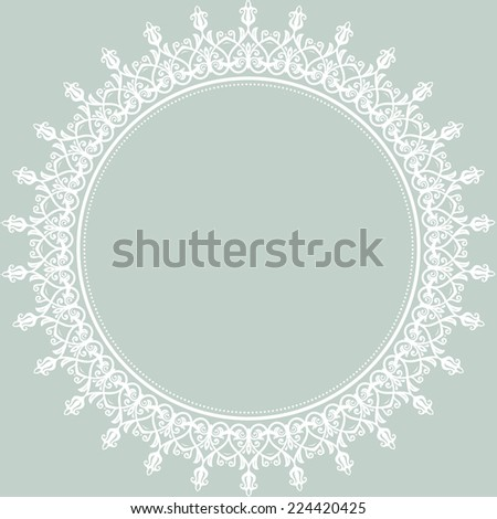 Floral vector oriental pattern with damask, arabesque and floral elements. Seamless abstract wallpaper and background - stock vector