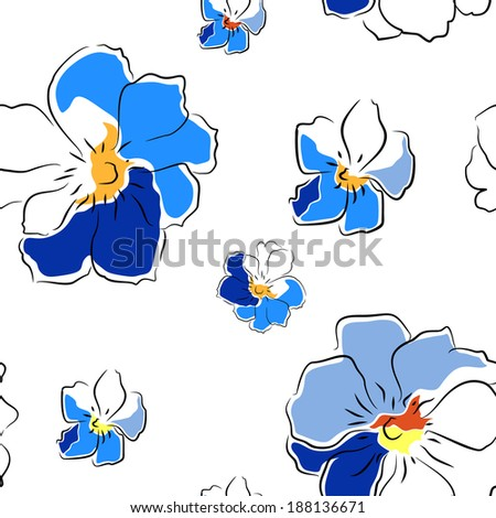 Floral vector seamless pattern - stock vector