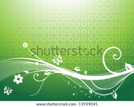 floral vector themes in green, wallpaper