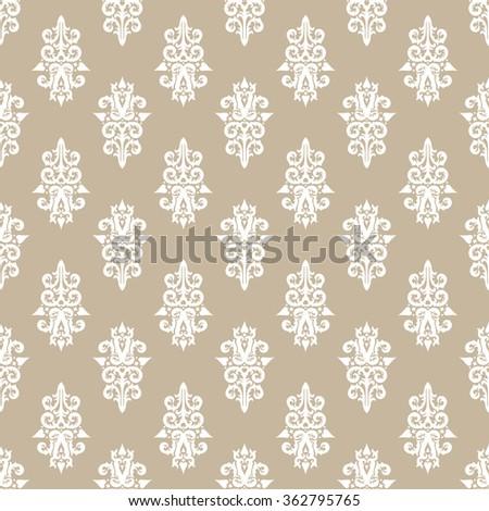 floral vector wallpaper - stock vector