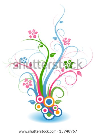 Floral Vines - Vector