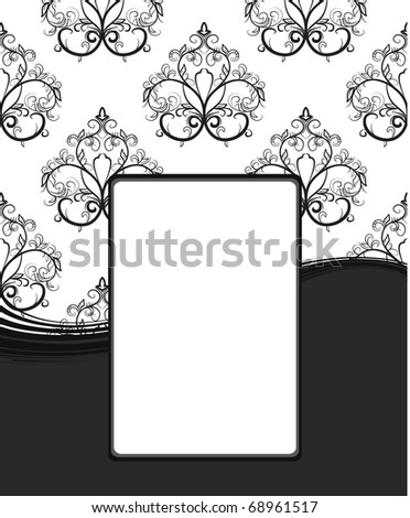 Floral vintage frame. Vector illustration - stock vector