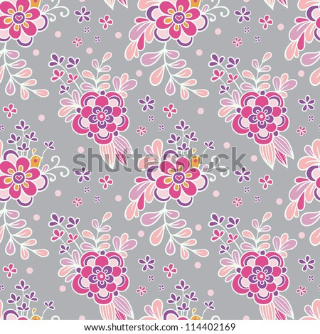 Floral vintage seamless pattern . - stock vector